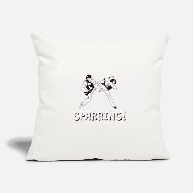 "Sparring The Fighter's Sparring Tshirt Design THIS SPARRING - Throw Pillow Cover 18"" x 18"""