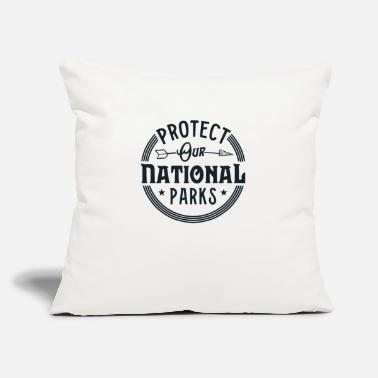 "Retro National Parks Shirt Vintage Conserve - Throw Pillow Cover 18"" x 18"""
