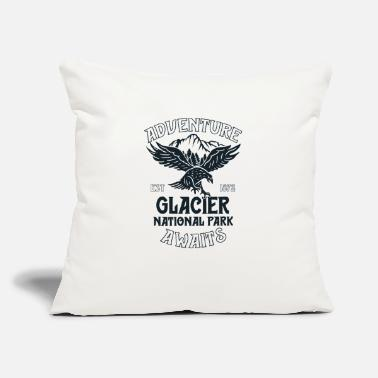 "Glacier National Park Shirt Eagle Montana - Throw Pillow Cover 18"" x 18"""