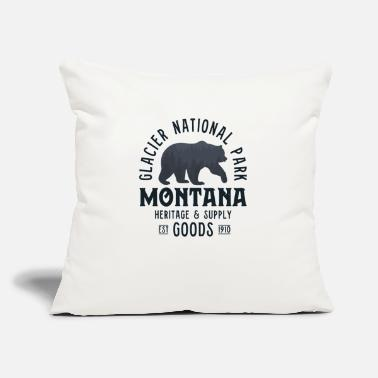 "Glacier National Park Shirt Women Men Bear Forest - Throw Pillow Cover 18"" x 18"""