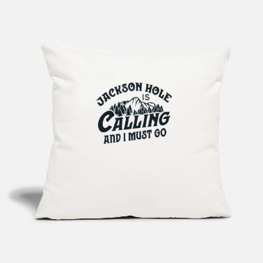 "Vintage Jackson Hole T Shirt Calling And I Must - Throw Pillow Cover 18"" x 18"""