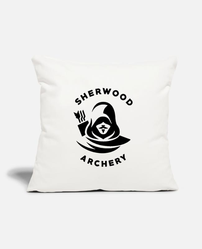 "Crab Pillow Cases - Sherwood The Archery - Throw Pillow Cover 18"" x 18"" natural white"