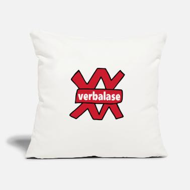 "verbal - Throw Pillow Cover 18"" x 18"""