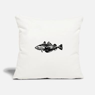 "Cod cod fish - Throw Pillow Cover 18"" x 18"""