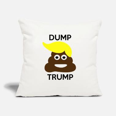 "Donald Trump Funny dump trump - Donald trump - funny - Throw Pillow Cover 18"" x 18"""