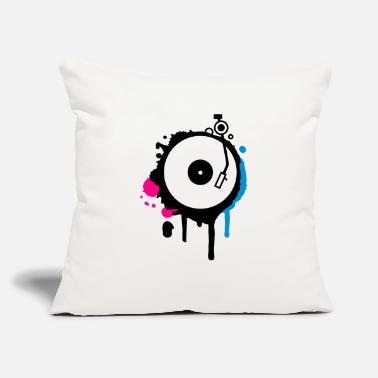 "Turntable Turntable Graffiti - Throw Pillow Cover 18"" x 18"""