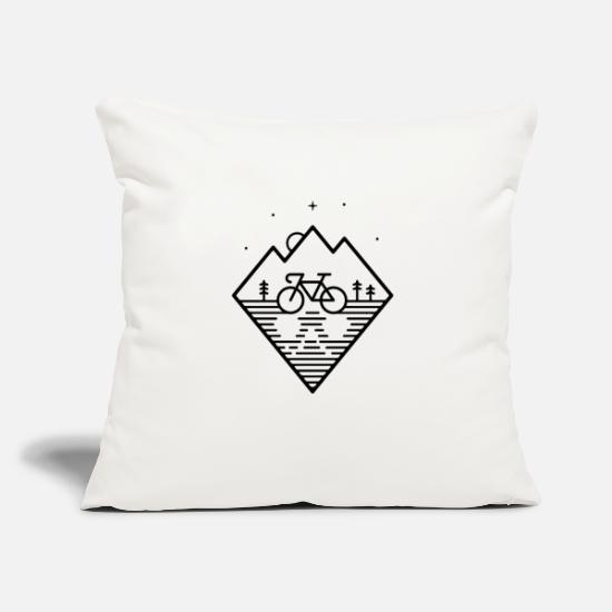 "Christmas Pillow Cases - Bike Dreams - Throw Pillow Cover 18"" x 18"" natural white"