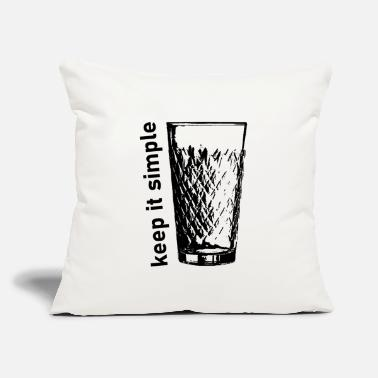 "Frankfurt Keep it simple Hesse Hessian Cider Appelwoi - Throw Pillow Cover 18"" x 18"""