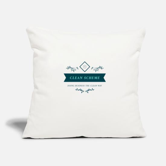 "Clean Pillow Cases - CLEAN SCHEME OFFICIAL - Throw Pillow Cover 18"" x 18"" natural white"