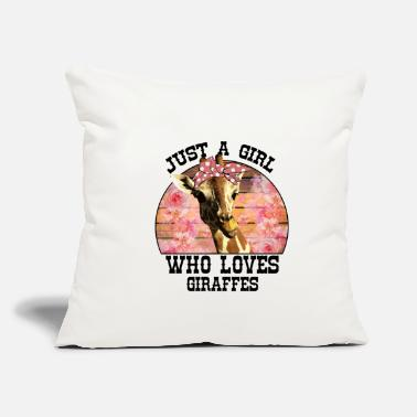 "Loves Just A Girl Who Loves Giraffes - Throw Pillow Cover 18"" x 18"""