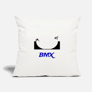 "Halfpipe BMX Halfpipe - Throw Pillow Cover 18"" x 18"""