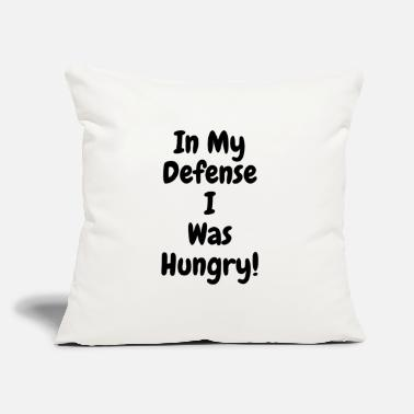"In my Defense I was hungry - Throw Pillow Cover 18"" x 18"""
