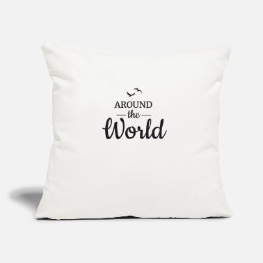 "Around Around the World - Throw Pillow Cover 18"" x 18"""