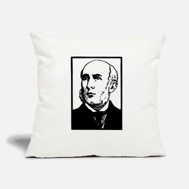 "Body Bald Mad Sideburns - Throw Pillow Cover 18"" x 18"""