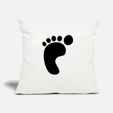 "Foot Print Left Foot Print - Throw Pillow Cover 18"" x 18"""