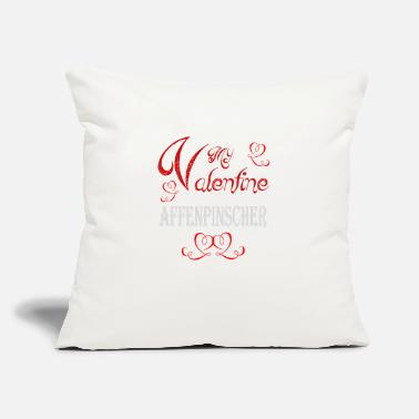 "Romantic A romantic A romantic Valentine with my Affenpinsc - Throw Pillow Cover 18"" x 18"""
