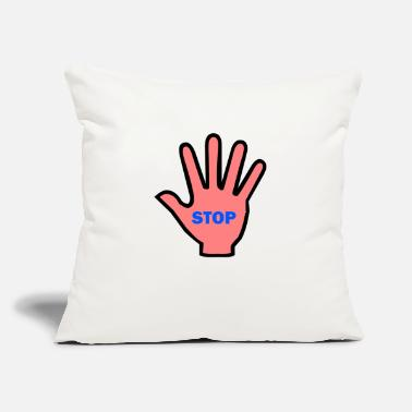 Hand Stop - Throw Pillow Cover