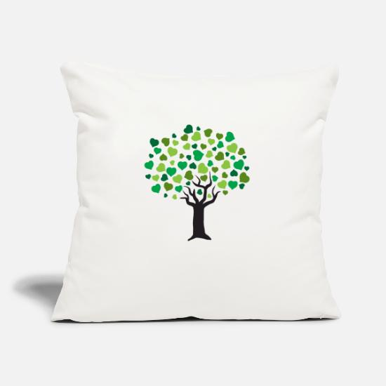 "Love Pillow Cases - Tree - Throw Pillow Cover 18"" x 18"" natural white"