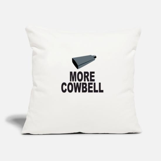 "Game Pillow Cases - SNL More Cowbell - Throw Pillow Cover 18"" x 18"" natural white"