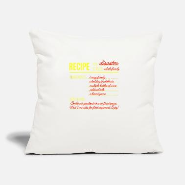 "Recipe Recipe for Disaster - Throw Pillow Cover 18"" x 18"""