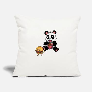 "Eating panda eating noodle box FANTASY KIDS - Throw Pillow Cover 18"" x 18"""
