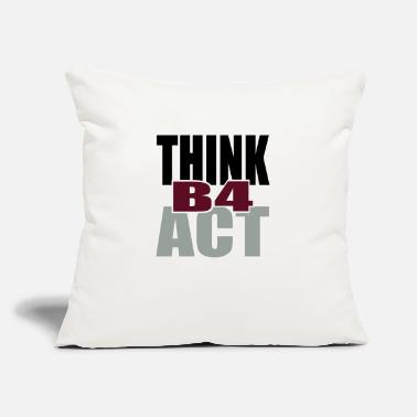 "Tlc Think Before Act - Throw Pillow Cover 18"" x 18"""