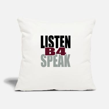 "Tlc Listen Before Speak - Throw Pillow Cover 18"" x 18"""