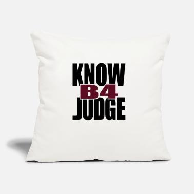 "Tlc Know Before Judge - Throw Pillow Cover 18"" x 18"""