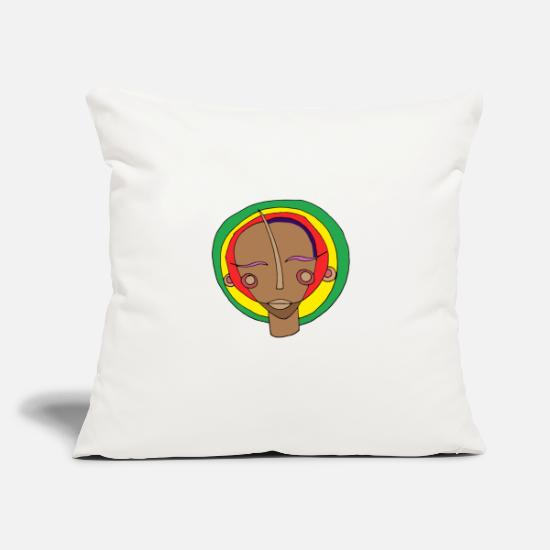 "Hashish Pillow Cases - Jok the rasta - Throw Pillow Cover 18"" x 18"" natural white"