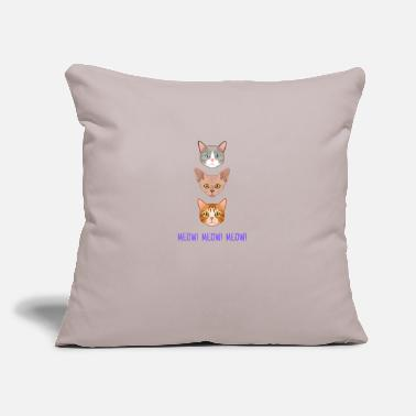 "Summer meow - Throw Pillow Cover 18"" x 18"""
