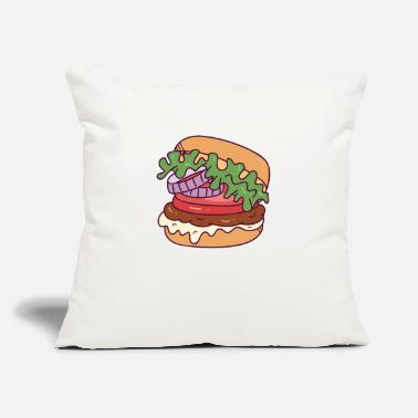 "Burger Burger - Throw Pillow Cover 18"" x 18"""