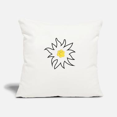 "Dirndl Flower in white - Throw Pillow Cover 18"" x 18"""