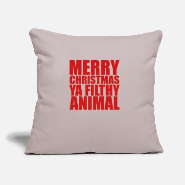 "Merry Christmas - Throw Pillow Cover 18"" x 18"""