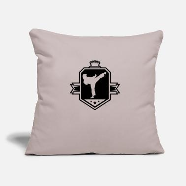 "karate_logo_uy1 - Throw Pillow Cover 18"" x 18"""