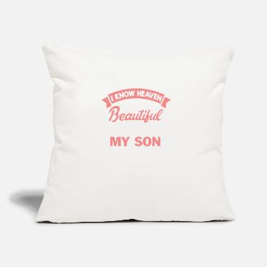 "My Son Clothing My Son Is In Heaven Tee Shirts - Throw Pillow Cover 18"" x 18"""