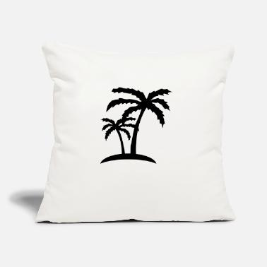 "Vacanza palms - Throw Pillow Cover 18"" x 18"""