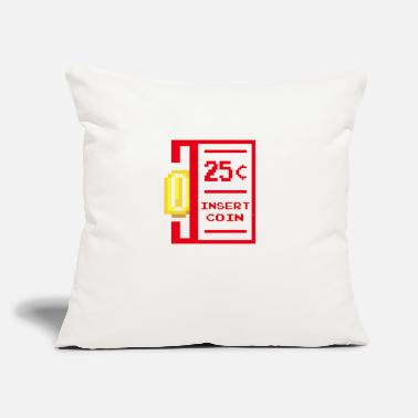 "insert coin retro - Throw Pillow Cover 18"" x 18"""