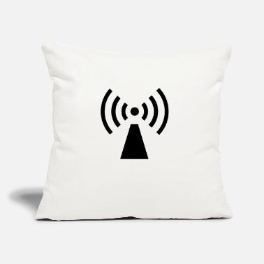 "Signal Waves v2 - Throw Pillow Cover 18"" x 18"""