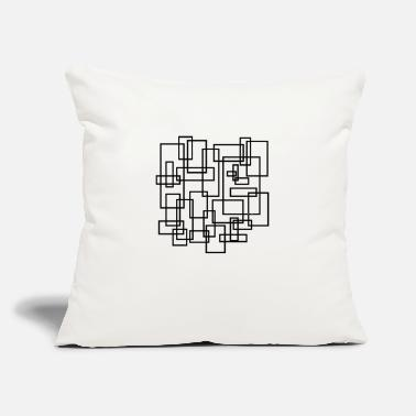 "Rectangle rectangled - Throw Pillow Cover 18"" x 18"""