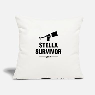"Blizzard Blizzard Stella #SURVIVOR - Throw Pillow Cover 18"" x 18"""