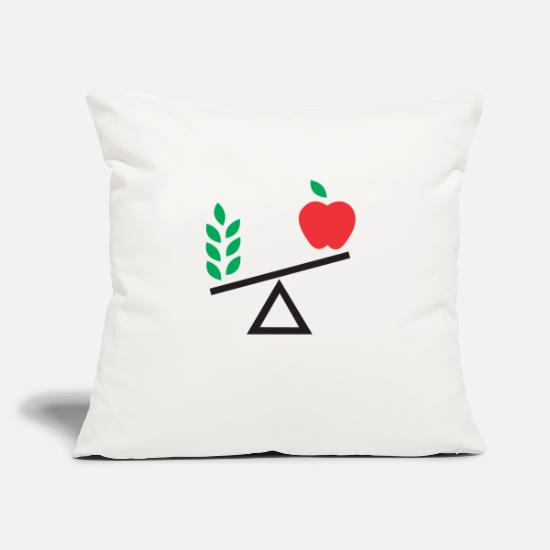 "Fruits Pillow Cases - fruit scales - Throw Pillow Cover 18"" x 18"" natural white"