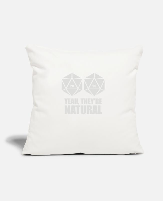 "Natural Hair Pillow Cases - D20 Yeah They re Natural - Throw Pillow Cover 18"" x 18"" natural white"