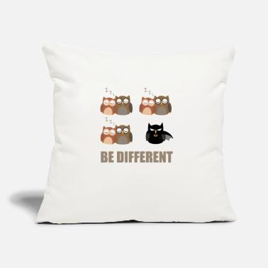 "Different Be different Design - Throw Pillow Cover 18"" x 18"""