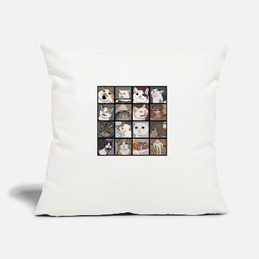 "Meme Meme Cats 2.0 - Throw Pillow Cover 18"" x 18"""