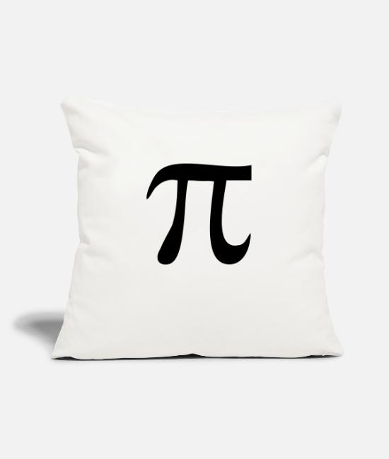 "Pee Pillow Cases - pi - Throw Pillow Cover 18"" x 18"" natural white"