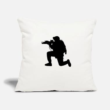 "Grenadier Modern Army Soldier - Throw Pillow Cover 18"" x 18"""