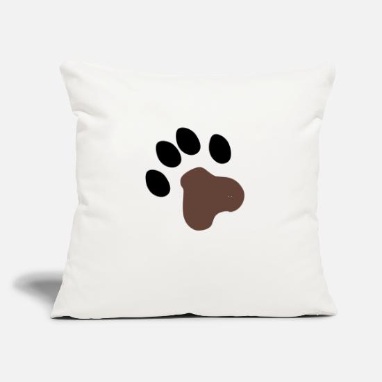 "Flowers Pillow Cases - Dog Paws - Throw Pillow Cover 18"" x 18"" natural white"