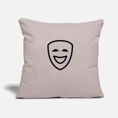 "Comedy comedy - Throw Pillow Cover 18"" x 18"""