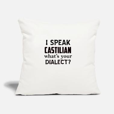 "Dialect castilian dialect - Throw Pillow Cover 18"" x 18"""