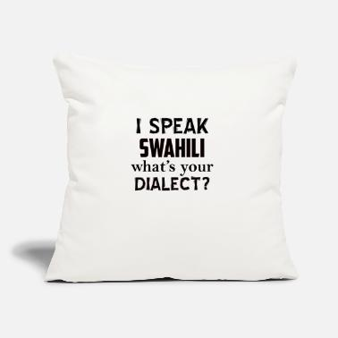 "Lingua swahili dialect - Throw Pillow Cover 18"" x 18"""
